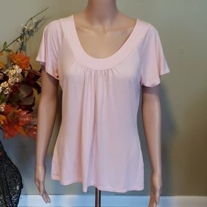 NEW Dressbarn soft rayon t-shirt pale pink
